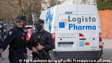 Spanien I Ankunft der ersten Covid-19-Impfstoffe in Madrid