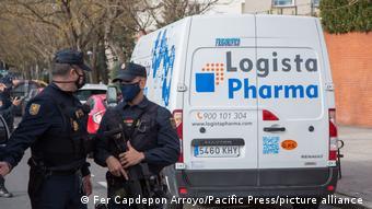 Ισπανία άφιξη εμβολίων στη Μαδρίτη
