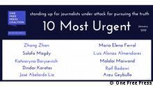 Zehn dringendsten Fälle von Verletzungen der Pressefreiheit im Januar 2021