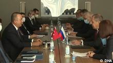 Russland Treffen Außenminister Sergej Lawrow und Mevlüt Cavusoglu