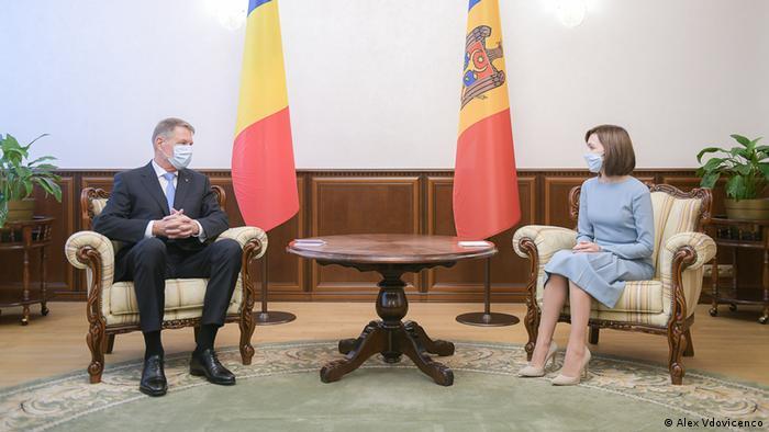 Klaus Iohannis, Maia Sandu, Chişinău, 29.12.2020
