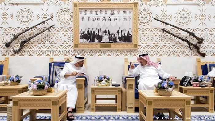 Saudi-Arabien I Salman bin Abdulaziz Al Saud und Mohammed bin Zayed bin Sultan Al-Nahyan