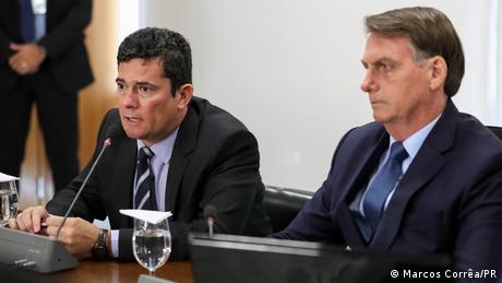 Foto de Sergio Moro y Jair Bolsonaro