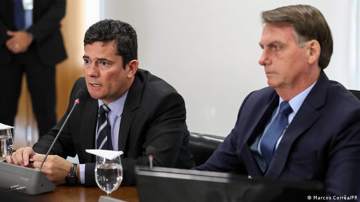 BRasilien Brasili Sergio Moro und Jair Bolsonaro
