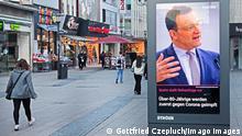 Deutschland Essen Plakat mit Jens Spahn