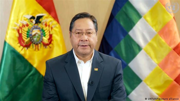 UN New York | Präsident von Bolivien Luis Arce | TV-Rede zur Corona-Krise