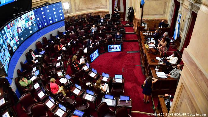 Die Debatte über das Abtreibungsgesetz im Senat von Argentinien