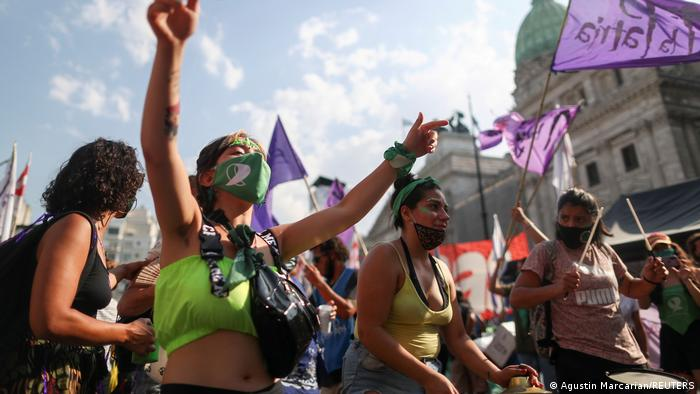Demonstrators protest in favour of legalizing abortion