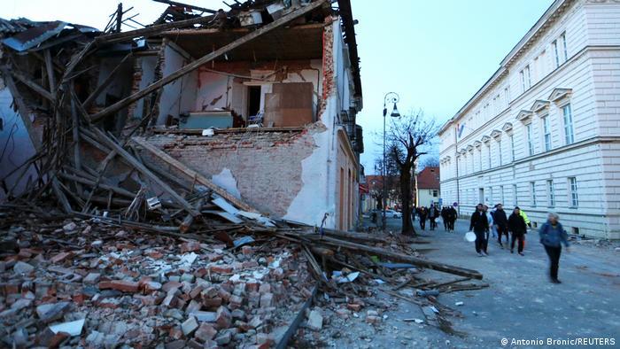 Urušene zgrade u Petrinji