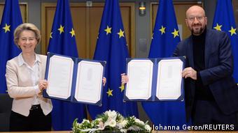Belgien Brüssel | Unterzeichnung Brexit Abkommen