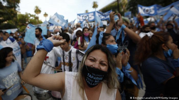 Protest von Abtreibungsgegnern in Buenos Aires