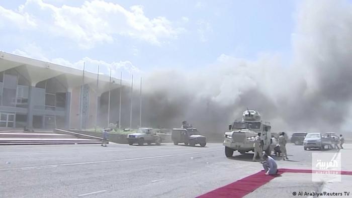 Jemen l Explosion am Flughafen in Aden