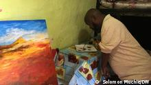Äthiopien Addis Abeba | Maler Yosef Bekele malt trotz Behinderung