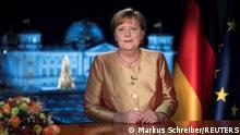 Deutschland Neujahransprache der Kanzlerin | Angela Merkel