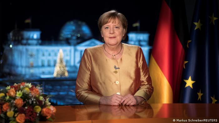 Deutschland Neujahransprache der Kanzlerin   Angela Merkel