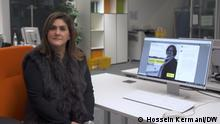 Nahid Taghavi's daughter Mariam Claren in DW. German-Iranian women's rights activist Nahid Taghavi has been arrested in Iran, the Frankfurt-based International Society for Human Rights (ISHR) said. Citing information provided by her daughter, ISHR said Taghavi was detained on October 16 and accused of endangering security. ISHR said the 66-year-old is being held in solitary confinement at Tehran's notorious Evin prison. Photo: Hossein Kermani/DW