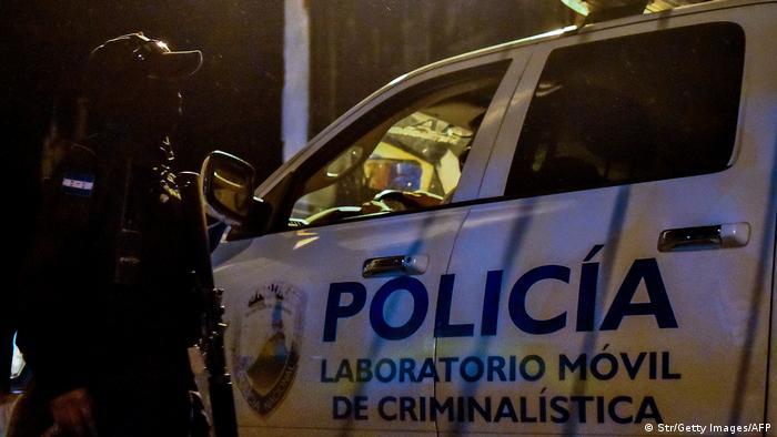 Forensic police arrive to the penitentiary of Tela, Atlantida department, Honduras, on December 21, 2019