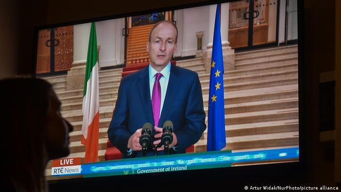 Irland Dublin | Rede Premierminister Taoiseach Martin zum neuen Corona-Lockdown
