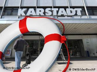 Karstadt store with a live saver