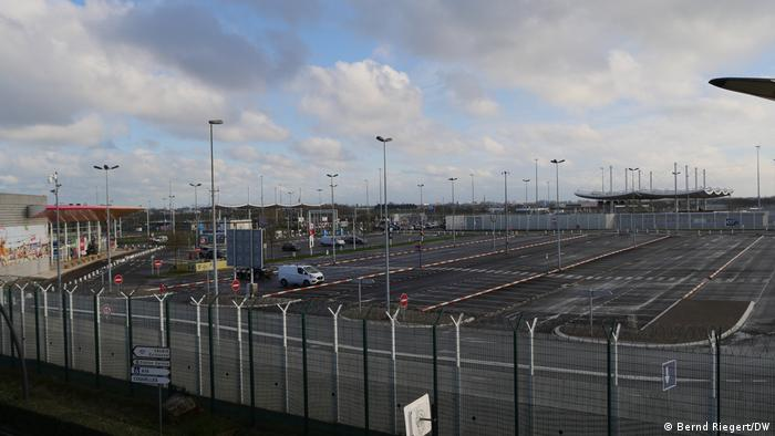 Abfertigung am Eurotunnel in Coquelles bei Calais