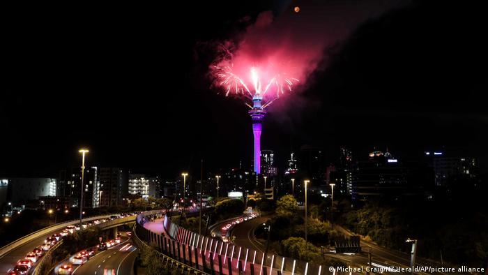 Show de fogos em Auckland