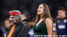 2020 Tri-Nations | Australia v Argentina - Olivia Fox singt Nationalhymne