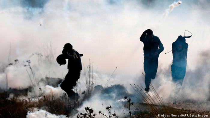 Протесты палестинцев на Западном берегу Иордана