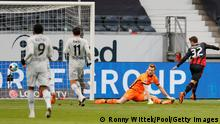 Fußball Bundesliga Frankfurt v Leverkusen Tor 1:1
