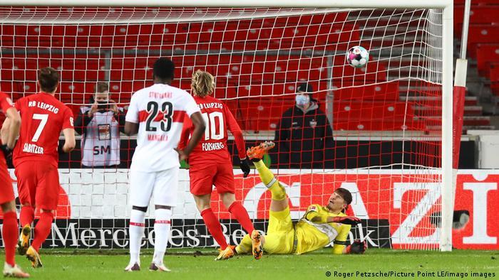 Gregor Kobel saves a penalty