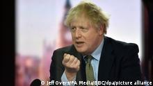 Boris Johnson während Andrew Marr-Show der BBC