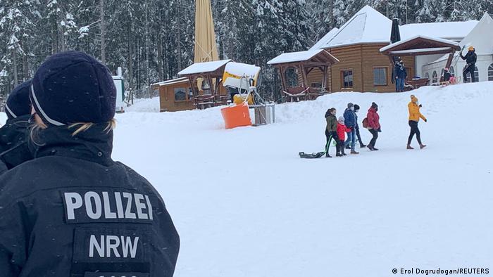 Полиция контролирует соблюдение коронавирусных ограничений в Винтерберге