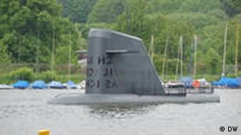 Submarine installation as part of the Ruhr Atoll project in Essen