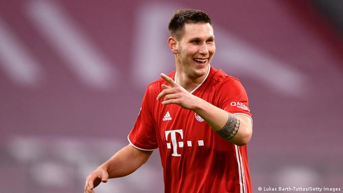 Niklas Süle celebrates putting Bayern Munich in the lead