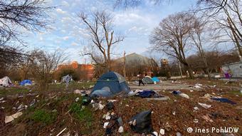 Άστεγοι απέναντι από την εκκλησία του Μάρτιν Λούθερ Κινγκ