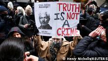London Anhänger von Assange jubeln