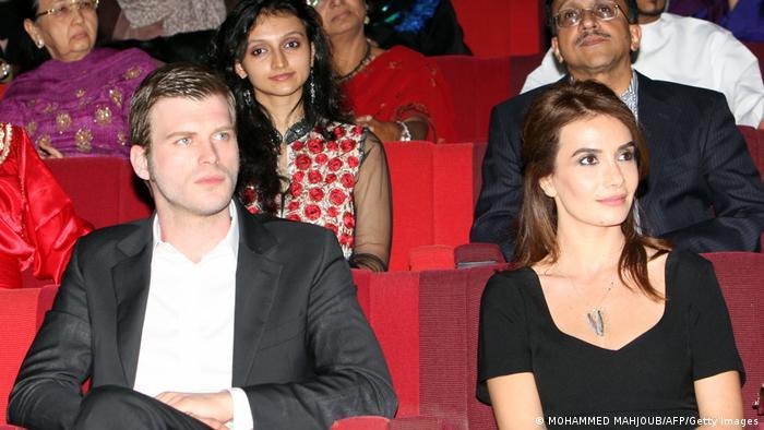 Turkish actor Kivanc Tatlitug at the Muscat International Film Festival