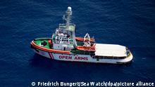 Rettungsschiff Open Arms Flüchtlinge Mittelmeer