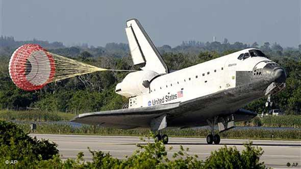 Landung des Space Shuttle 'Atlantis' (Foto: AP)