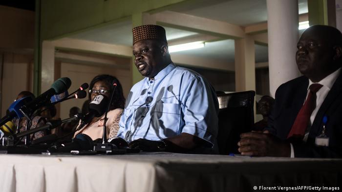 Zentralafrika I Mathias Morouba bei Verkündung des Wahlergebnisses