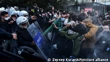 Türkei I Proteste an Bogazici Universität in Istanbul