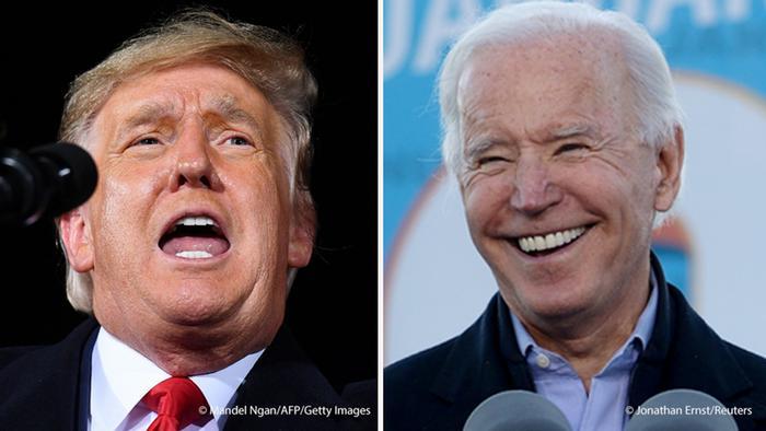 USA I Donald Trump und Joe Biden in Georgia