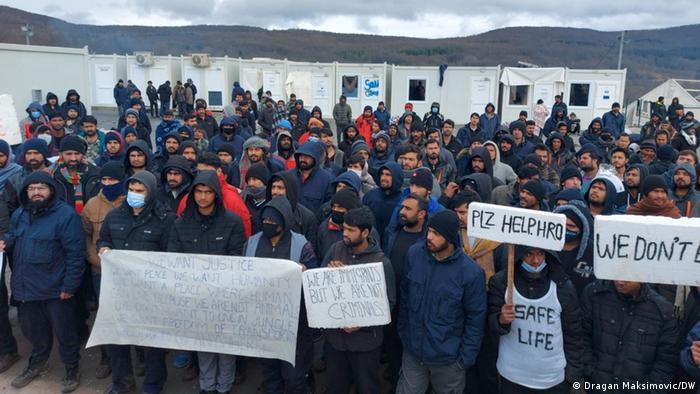 Migranti u kampu Lipa kod Bihaća