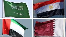 Bildkombo Flaggen Saudiarabien Ägypten VAE Katar