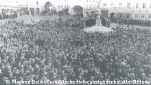 Deutschland Landsberg 1951 - Demonstration für die Aufhebung der Todesstrafe von 28 NS-Kriegsverbrechern