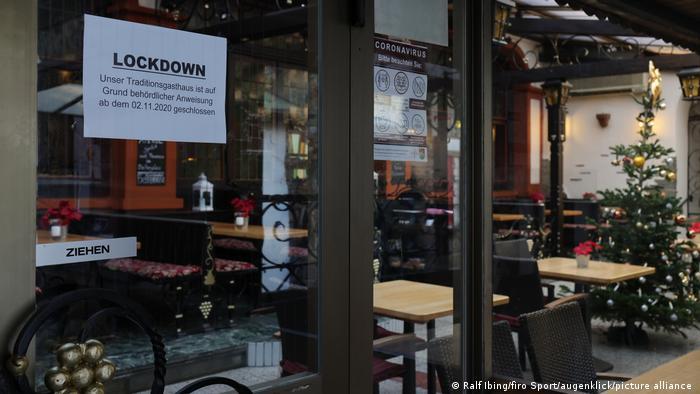 Puertas cerradas: locales en el confinamiento en Alemania.