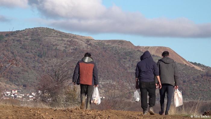 Griechisch-albanischen Grenze | Migranten bereiten sich zum Grenzübertritt vor