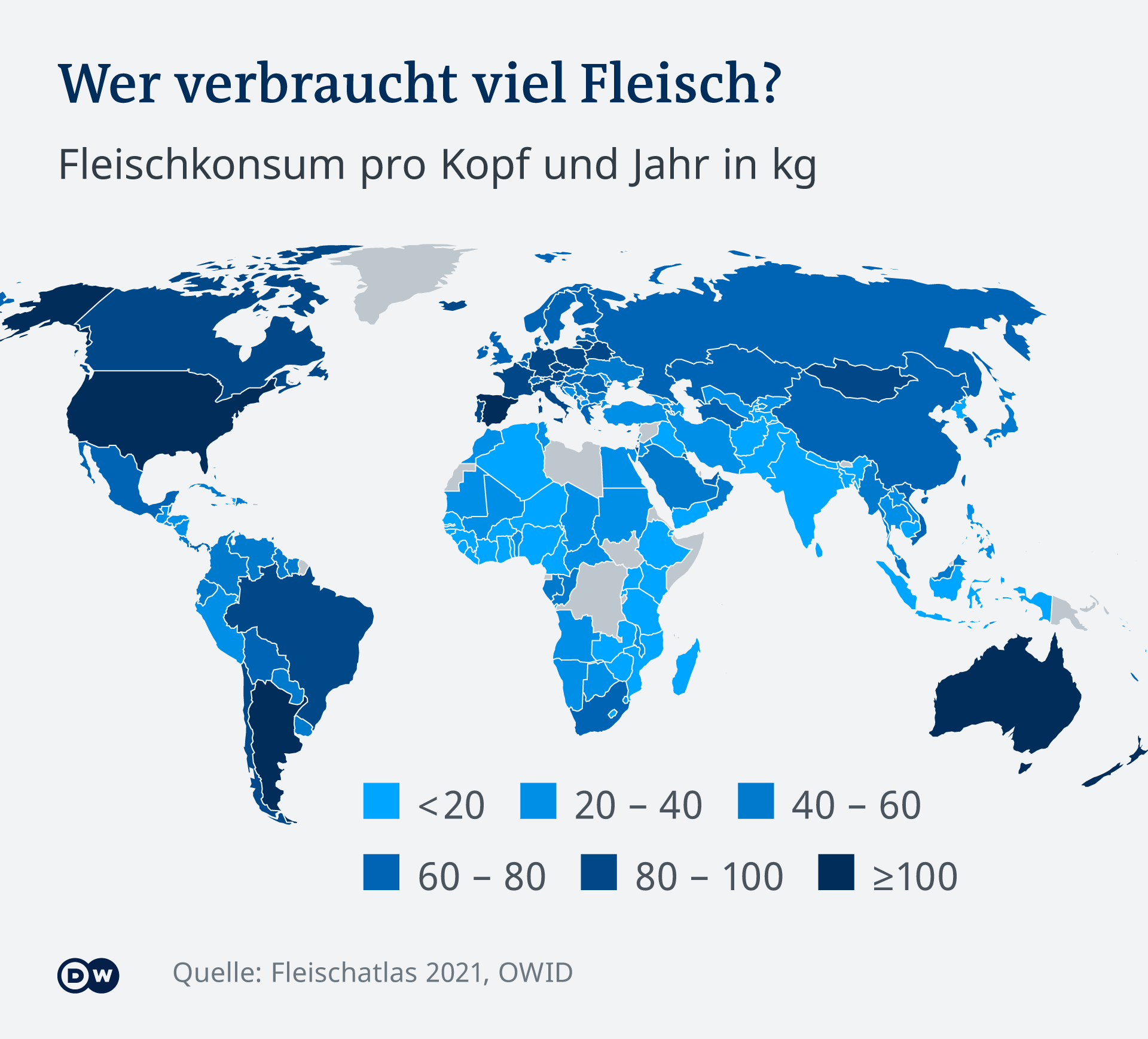 Infografik Wer verbraucht viel Fleisch? DE