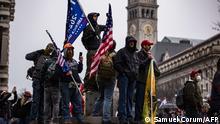 USA | Protest | Anhänger von Donald Trump Auf dem Freedom Plaza in Washington DC