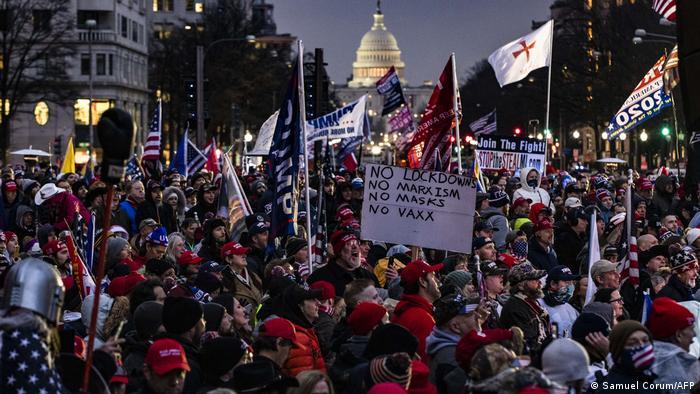 Foto de seguidores de Donald Trump en Washington DC