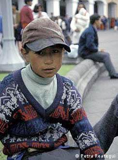 Kleiner Junge aus Ecuador
